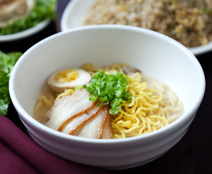 Japanese ramen with noodles at Pacific Islands Club Guam, Tumon