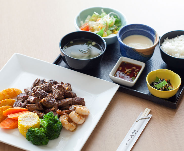 traditional Japanese lunch at Pacific Islands Club Guam, Tumon