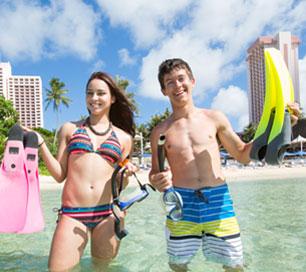 Enjoy on beach Tumon Bay Guam Pacific Islands Club