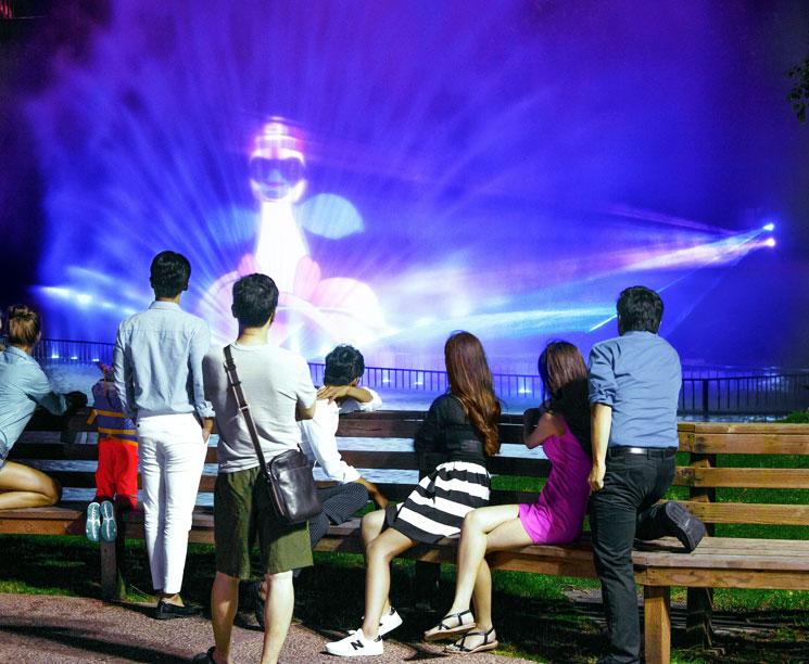 Siheky fountain show pacific islands club guam tumon
